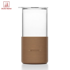 ZGJGZ 450ml Office Tea Cup Heat-resistant Glass Coffee Mug High Borosilicate Glass Anti Scald Personal Tea Cup