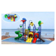 competitive price water theme park plastic slide with swing for water pool