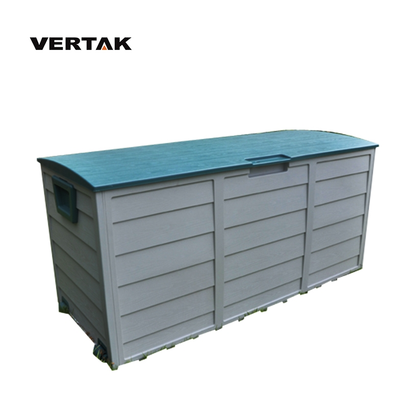 VERTAK Outdoor Garden Waterproof Hand Tool Large Storage Plastic Box With Wheels and Handle