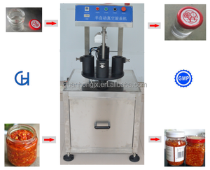 Semi Automatic Twist Off Cap Vacuum Manual Bottle Capping Machine