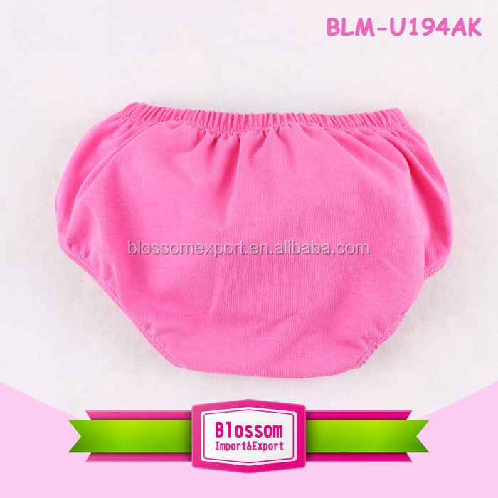 Solid color plain cotton baby bloomer wholesale diaper cover baby bloomers