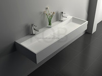CK2022 professional solid surface vanity wash face double sink