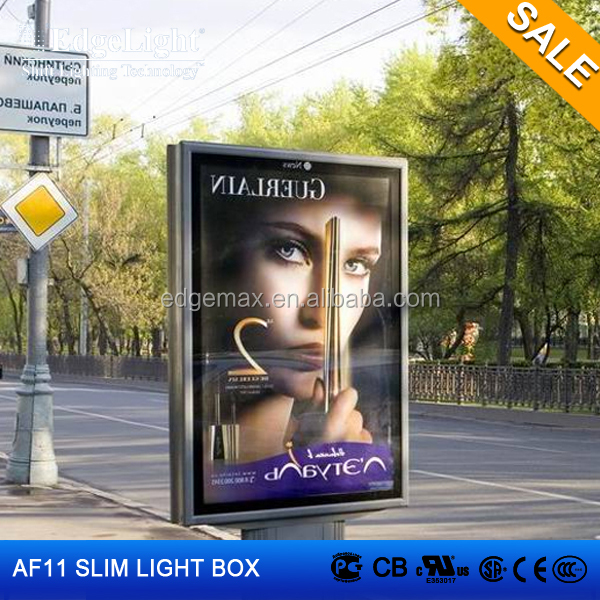 Edgelight AF11 double sided light box , waterproof outdoor <strong>signs</strong> , LED advertising board for promotion
