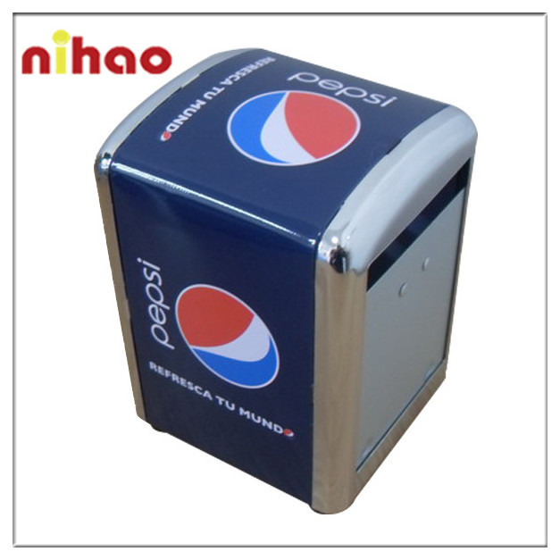 High Quality Promotional Square Tin Napkin Holder For Restaurant