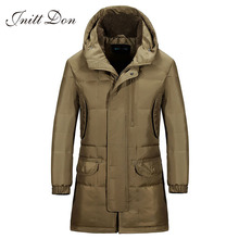 Men's brand Battlefield Winter Keep Warm Coat 90% White Duck Down Long section Jacket Coat Casual  Men's Down Jacket YRFx215