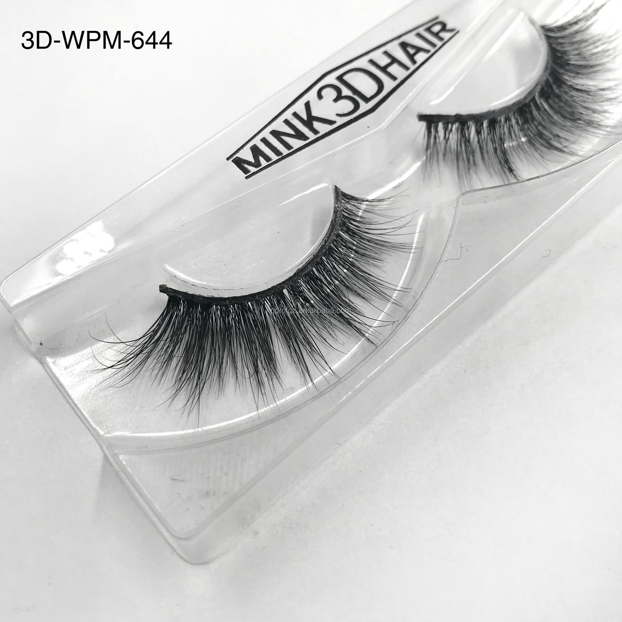 Wholesale Mink Lashes 3d Mink Fake Eyelashes With Eyelash Box