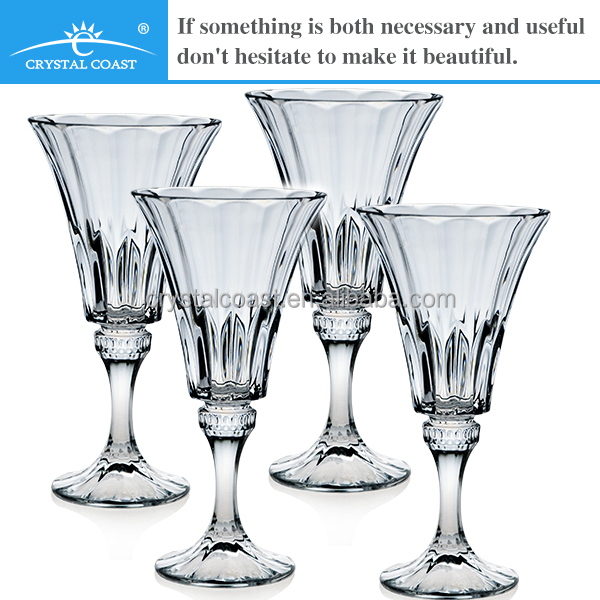 bulk crystal thick stem wellington wine glass