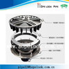 New product Siphonic roof rainwater drainage pipe fittings rain water drain system