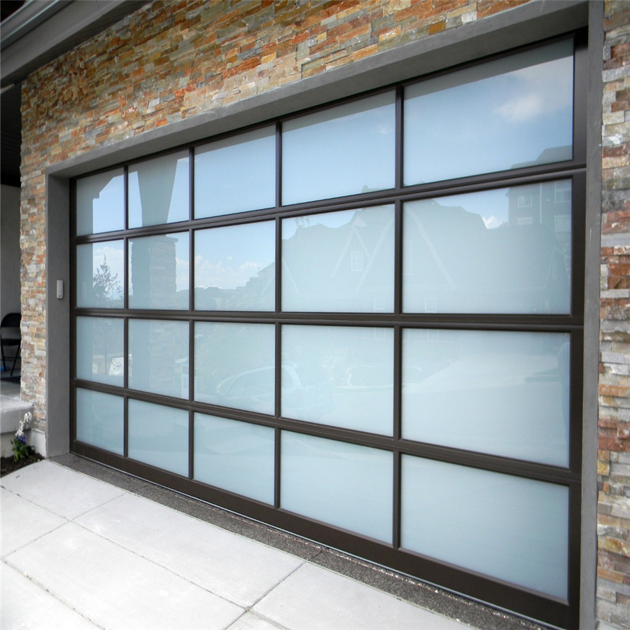 Modern Garage Doors In An Astonishing Protection: Plexiglass Garage Door Windows Aluminum Glass Garage Door