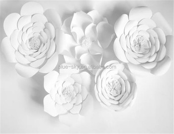 new goods white paper flower wedding event decoration large flower backdrop