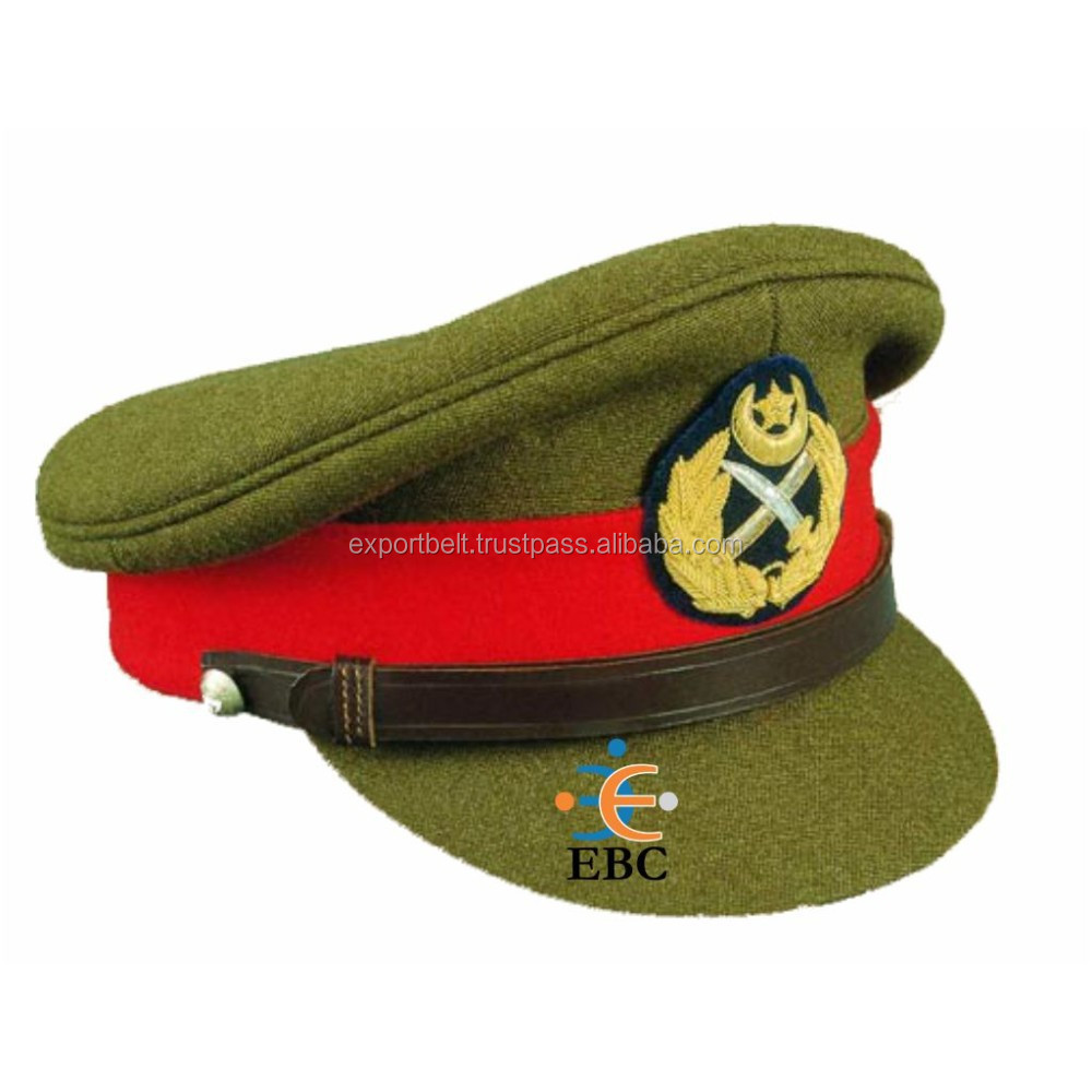 79eab0155af Olive Green Military Uniform Officer Peak Cap With Embroidery Insignia  Badge - Buy Uniform Caps Or Hats,Black Military Peaked Cap,Double Peak Cap  ...