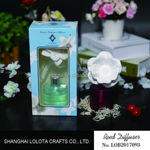 Fashion ceramic flower reed diffuser with natural essential oil