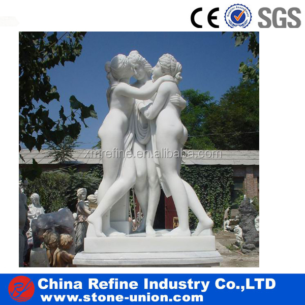Three Graces marble carving statue statuary