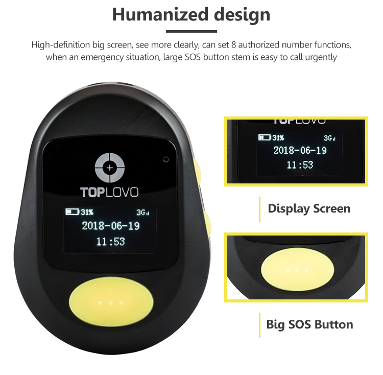 Waterproof 4g gps tracker elderly care products with Medical Alert and SOS button