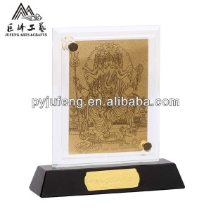 Ganesha crystal paper weight custom design promotional item