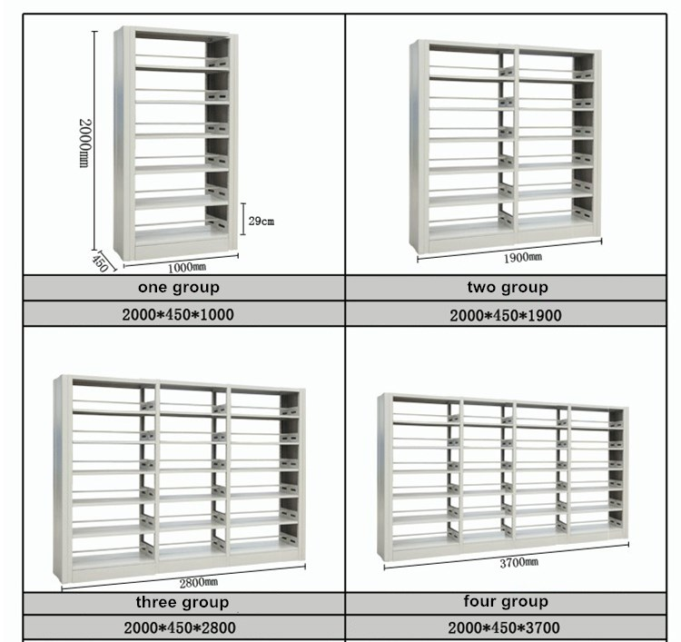 steel double sided library shelves design wooden book rack