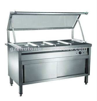 Bain Marie Showcase/buffet Heating Display With Cabinet - Buy ...