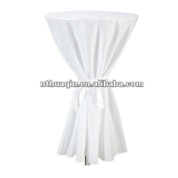 225 & 100%polyester Bistro Table Cover Cocktail Table Cloth Polyester Bar Table Cover With Band And Belt - Buy Polyester Cocktail Table CoverBistro ...