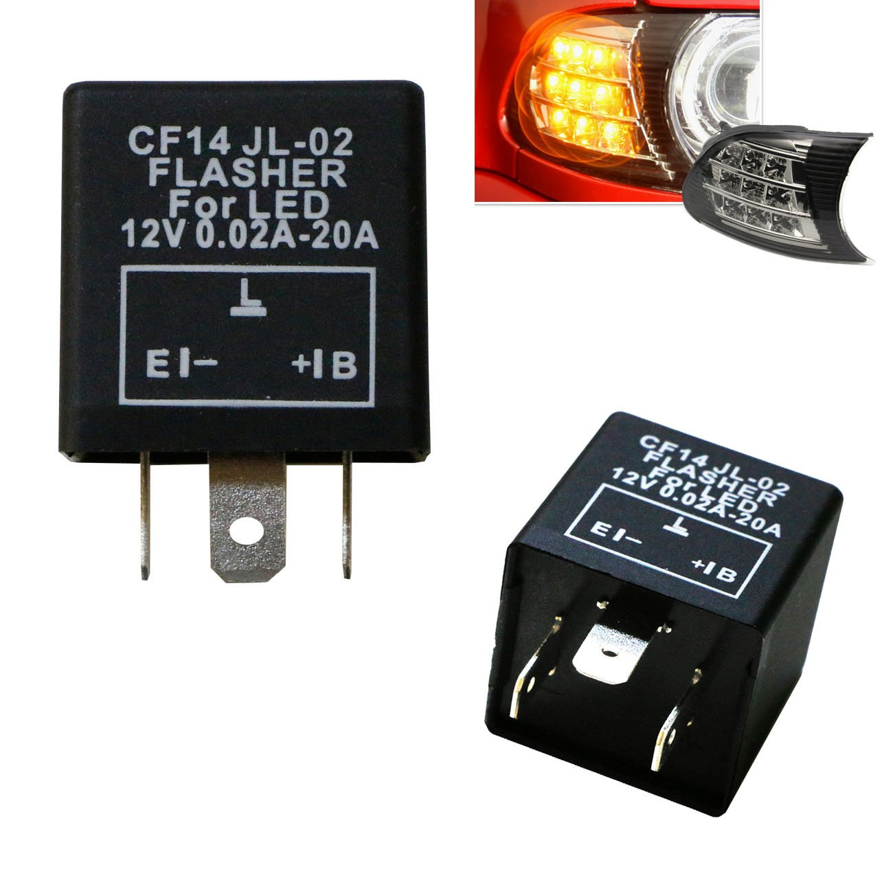 Cheap 3 Led Flasher Circuit Find Deals On Simple Flashing Using Opamp Get Quotations Ijdmtoy 1 Pin Cf14 Ep35 Electronic Relay For Related