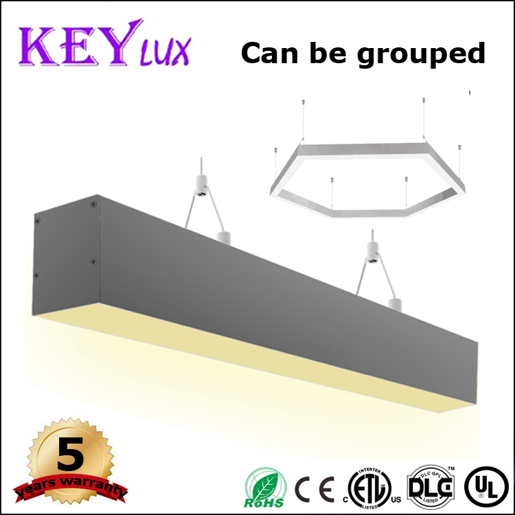 Industrial led aluminum linkable office linear pendant lighting fixture luminaire 900mm 20w CRI>80 with three years warranty