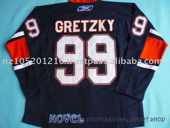 99 GRETZKY Navy Hockey Jerseys