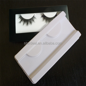 Manufacture custom perfect plastic flocking tray blister pack for magnetic 3d silk false lashes fake seyelashes