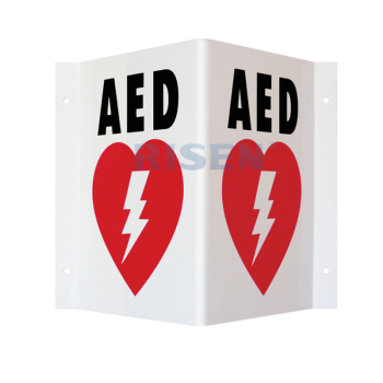Custom logo CPR rescue kits emergency school health safety AED defibrillator wall signs