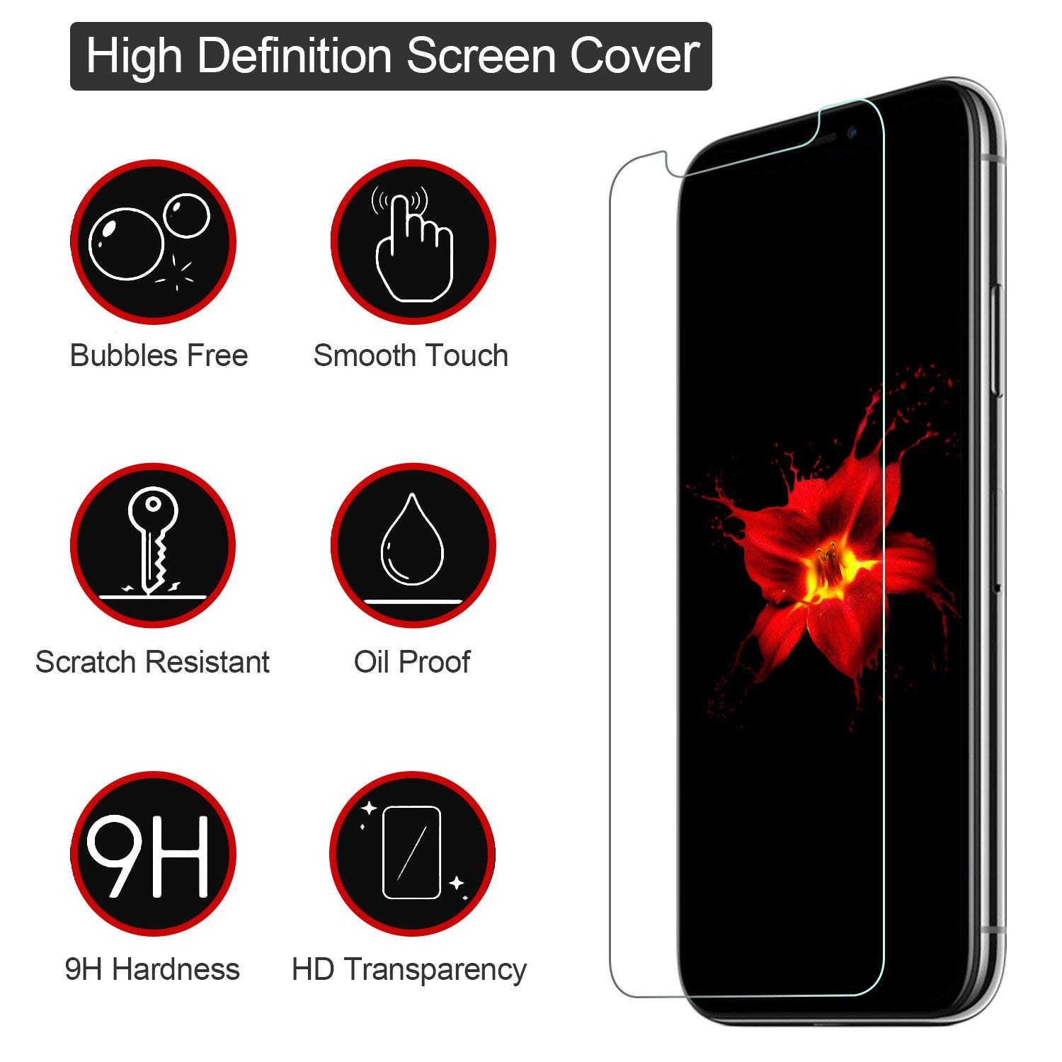 Maxshine 2.5D High Quality 9H Tempered Glass Screen Protector For iPhone XS