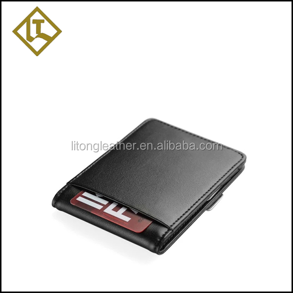 Luxury hot sell private label photo money clip wallet