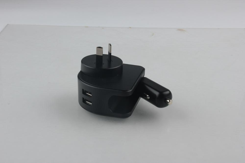 Newest Europe,United States,London car home charger SL-601 two in one travel business car charger travel charger