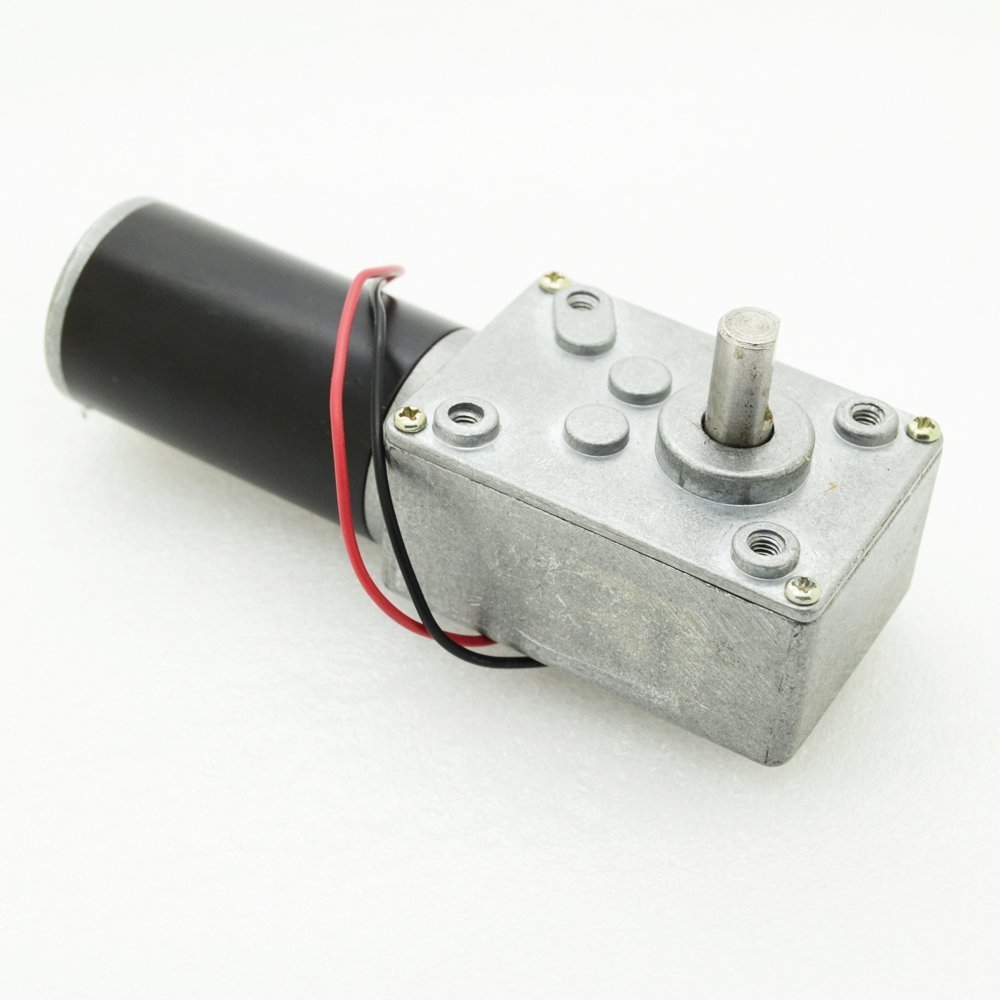 1pc GW31ZY DC24V 10RPM 0.15A Worm Reducer DC Gear motor with Tail Shaft for Encoder