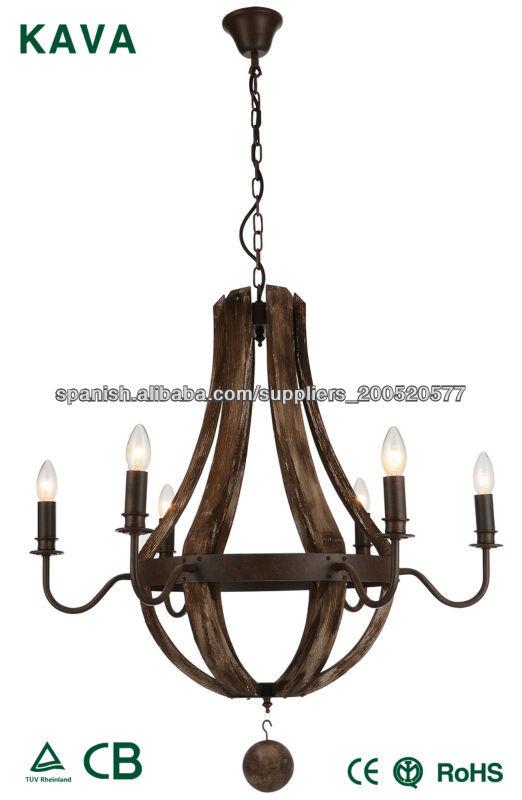 Mejores antiguos candelabros de madera vendedor para hotel - Lamparas antiguas de techo ...