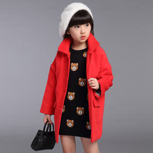 Kids girls winter coat children fashion wool Korean style coat
