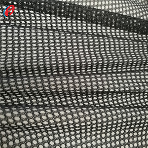 See Through Black Mesh Fabric , 100% Polyester Mesh Fabric For Sports Shoes
