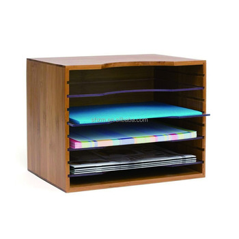 5 Tier Bamboo Office Document File Organizer Desktop Mail Letter A4 Paper Sorter Tray Cabinet Holder Storage Box Buy Decorative Paper File Storage