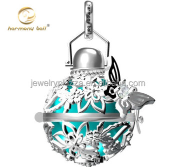 925 sterling silver newest cad design butterfly harmony ball mexican 925 sterling silver newest cad design butterfly harmony ball mexican bola necklace pendant aloadofball Images