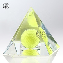 High Quality Customize Pyramid Sports Customized Souvenirs Crystal Creative Gifts Glass Paperweight Fashion Gift Souvenir