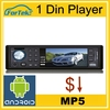 "Universal 1 din touch screen deckless car mp3 player MP5/MP4 3"" HD"