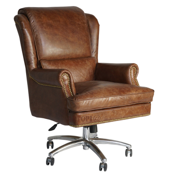 Modern office furniture high back swivel chair leather executive chair with armrests