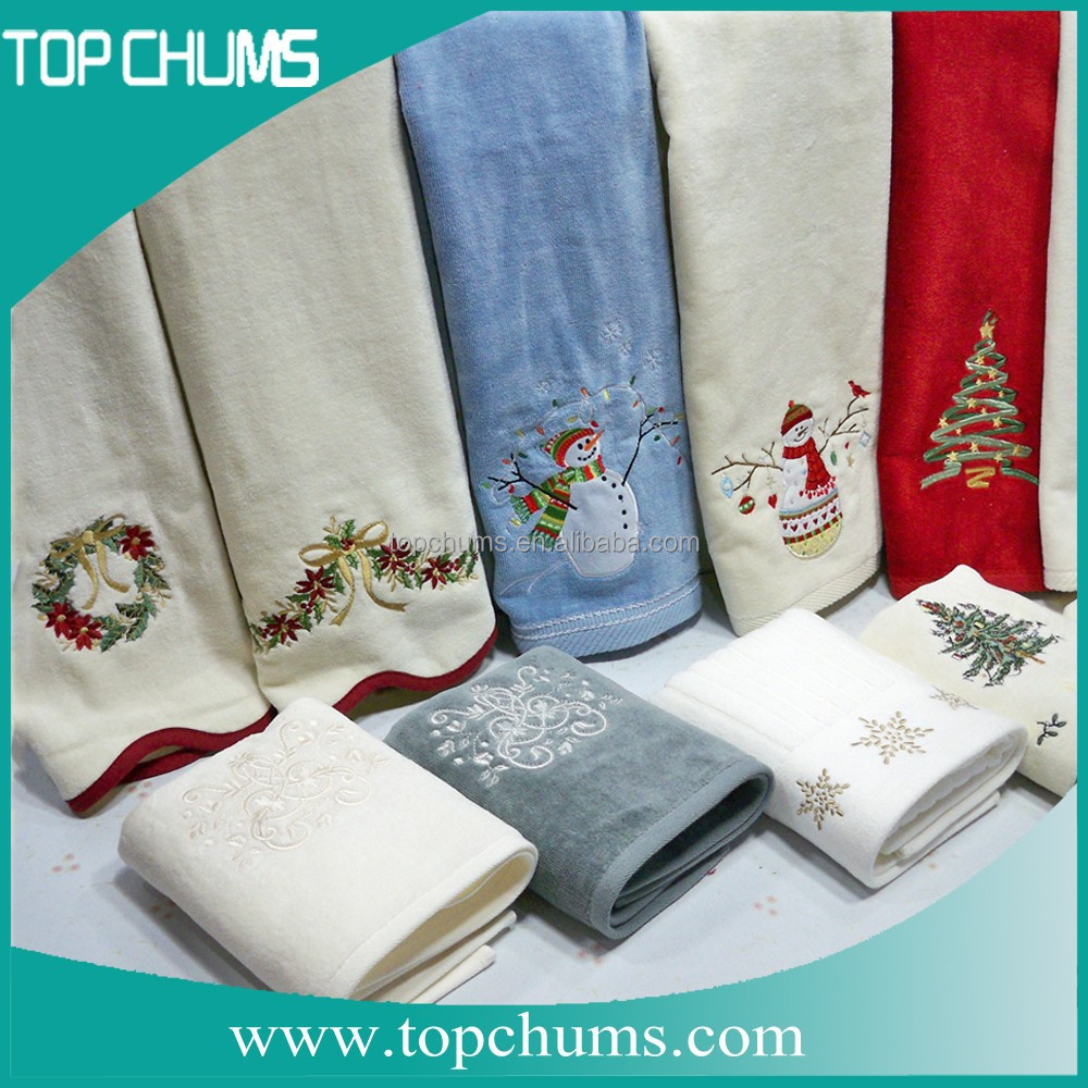 novelty embroidery design christmas wholesale kitchen towel