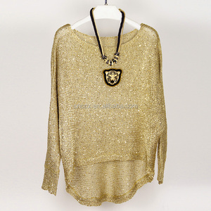 woman spring summer pullover knitwear with sequins