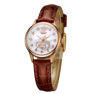 Well designed fashion leather leisure ladies watch