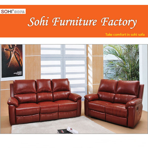 red leather sofa ,leather sofa factory direct