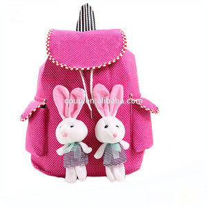 2016 Wholesale Design Custom Canvas Used Backpack School For Teenager Girls