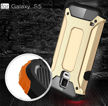 Laudtec Hybrid Shockproof PC Soft TPU Back Cover Case For Samsung Galaxy S5