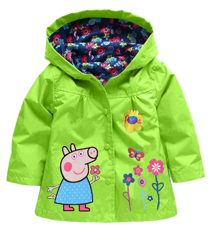 ZPW Boys Girls Hooded Lightweight Casual Jacket Toddler Cute Windbreaker