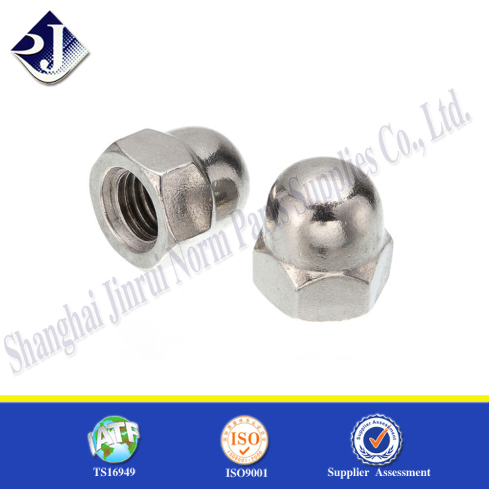12//24 STAINLESS ACORN NUTS