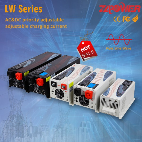 Power inverter 12vdc to 220vac 300w inverter with battery charger