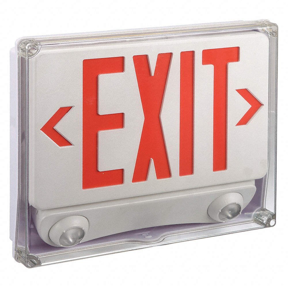 LUMAPRO ABS LED EXIT SIGN WITH EMERGENCY LIGHT