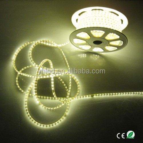 SMD5050 high brightness CE&RoHS 120V & 220V flexible waterproof 50m outdoor Christmas led ribbon light